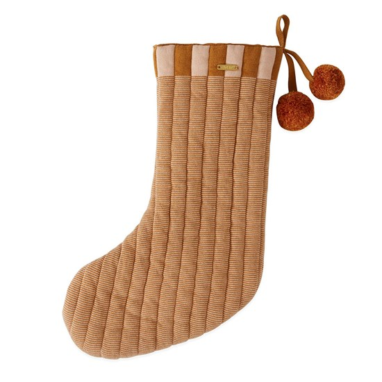 OYOY Laja Christmas Stocking caramel rose