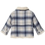 Gap Plaid Coat Black White Plaid