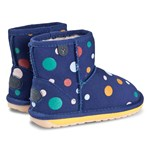 Emu Australia Royal Blue Wool Lined Circus Spot Mini Ankle Boots