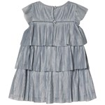Gap Tiered Plt Dress Crystal Blue Dusk