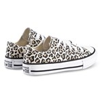 Converse Black Leopard Print Chuck Taylor All Star OX Trainers