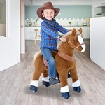 Pony Cycle Light Brown Horse Ride-On, Withers height 59cm, Age 4-9