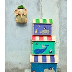 Rice Hanging Seagrass Storage Baskets with Elephant