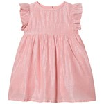 Creamie Dress Silver Stripe Pink Icing