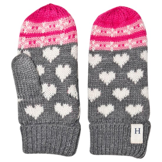 Hatley Winter Hearts Fleece Vanter Grå