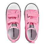 Converse Pink Chuck Taylor All Star OX Infants Velcro Trainers