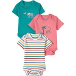 Frugi 3-pak Super Special Animal Babybodyer Multifarvede